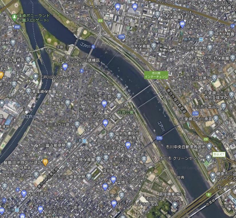【江戸川放水路の駐車場まとめ】ハゼ釣り・ハゼクラ・潮干狩り
