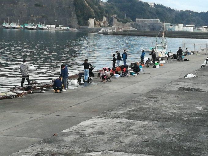 正月の外房港での釣り