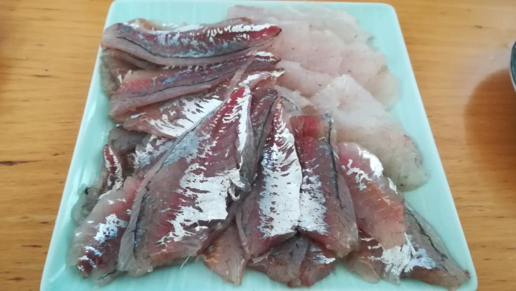 釣れた魚の刺身