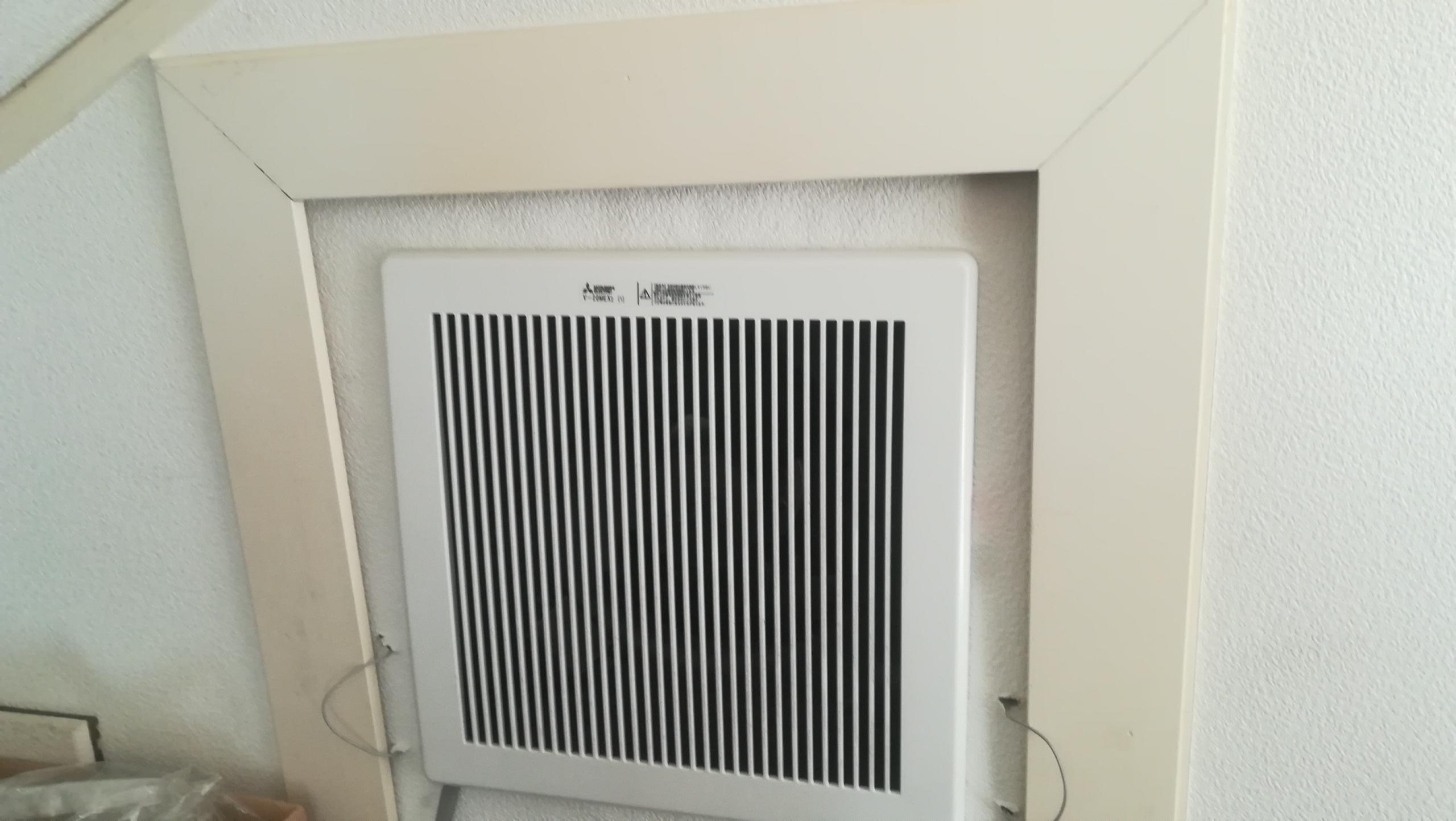 【2階の室温を下げる】三菱の排熱ファンで小屋裏換気(V-20MEX)