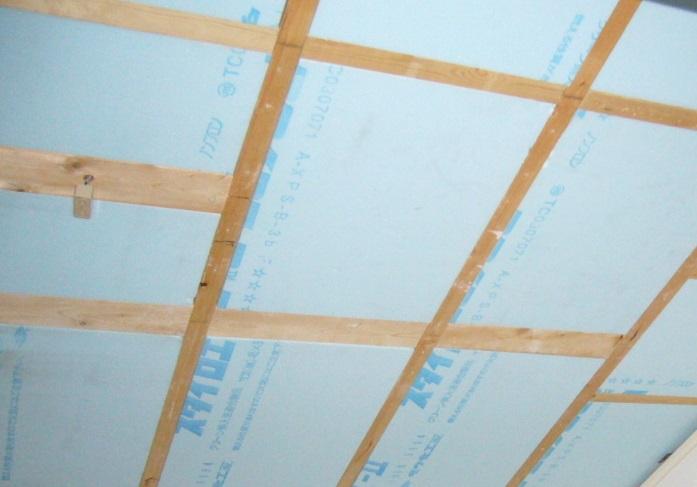 屋根断熱材施工のイメージ