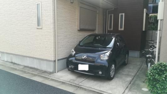 借りた戸建ての駐車場